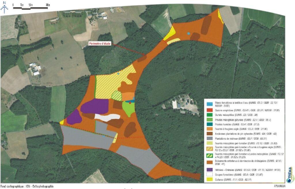 THEMA - Carte des habitats - zone La Garenne