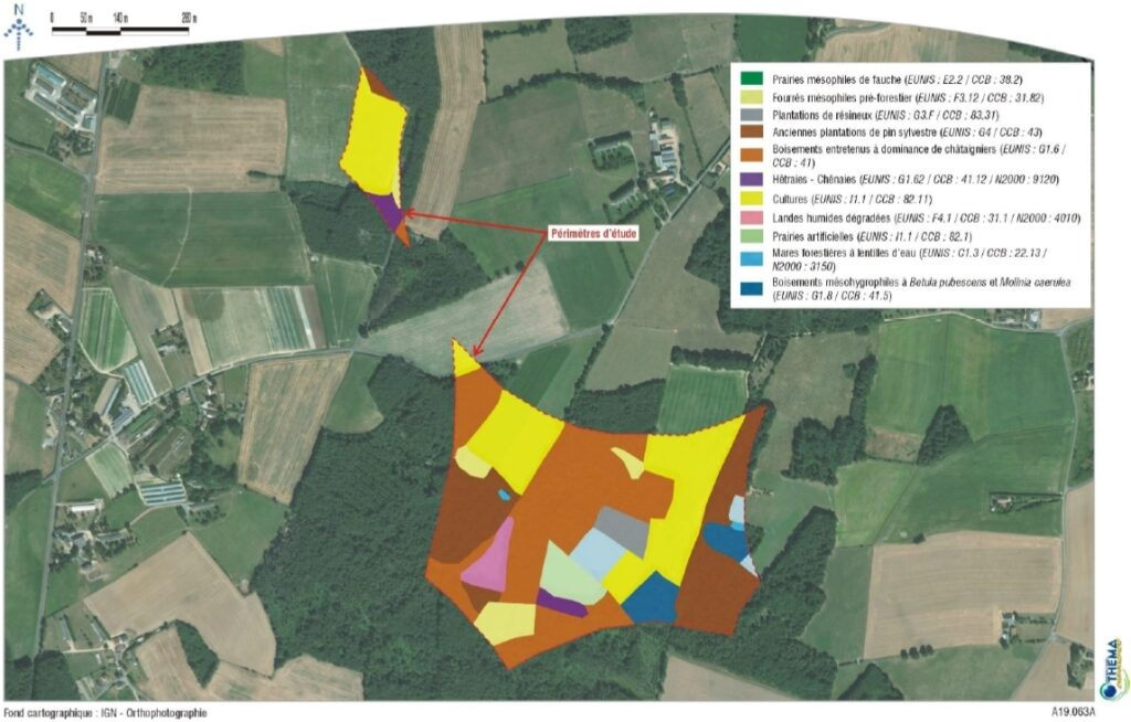 THEMA - Carte des habitats - zone Landes Nord